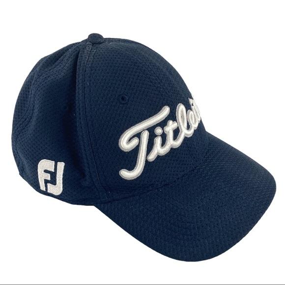 Titleist Footjoy Golf Cap Navy Flexfit Pro V1 M/L